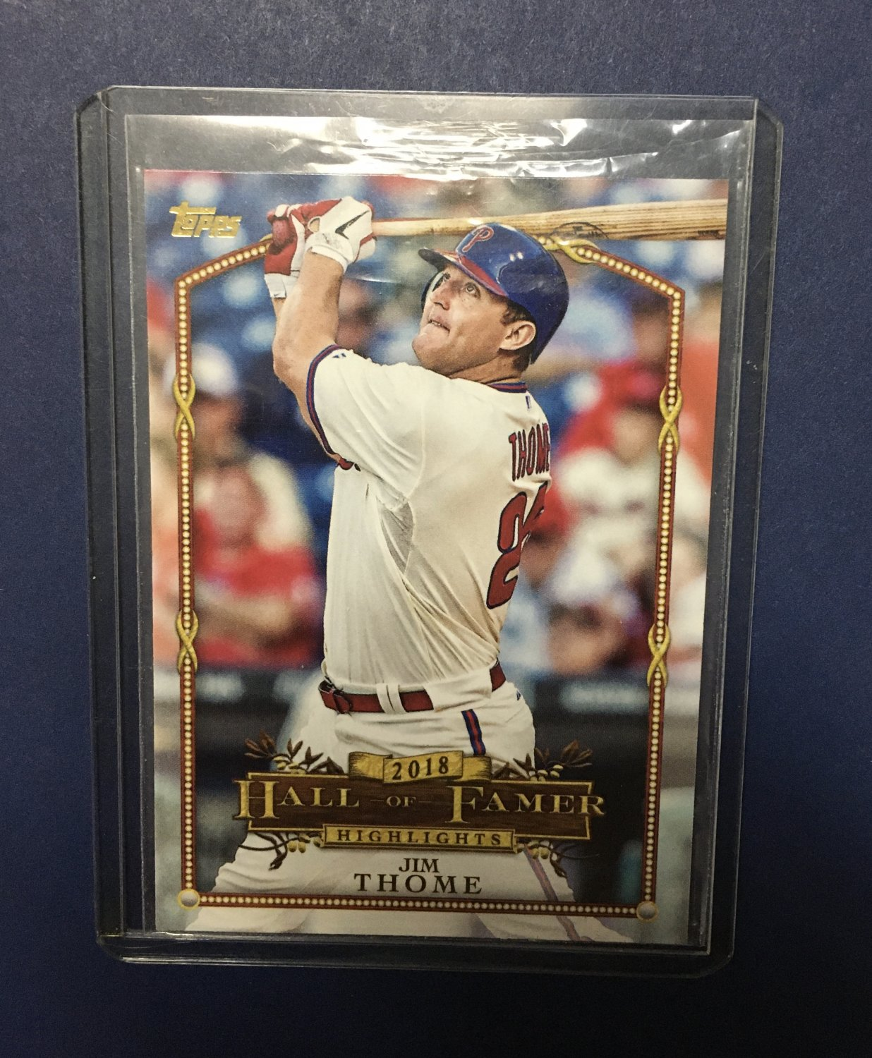 2018 Topps Update Hall of Famer Highlights Jim Thome #HFH-15