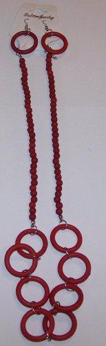 Red Hoop Necklace