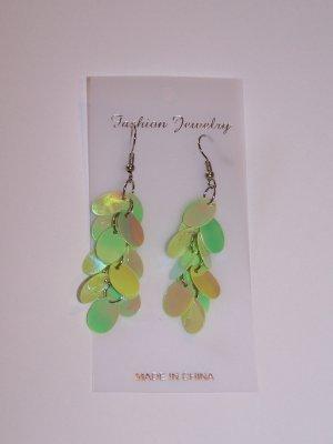 Green Dangly Earrings