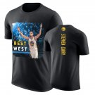 Warriors Stephen Curry Male Best in the West Black T-shirt