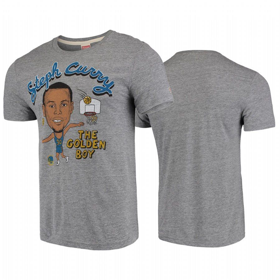 Youth Golden State Warriors Stephen Curry Gray Homage Player Graphic T-Shirt
