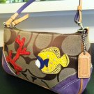 Coach Signature Applique Fish Demi Purse 1491