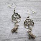 Odin's Ravens Earrings, Odin Earrings, Norse god Odin, Yggdrasil earrings, World Tree earrings,