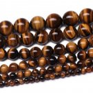 8mm Polished Tiger's Eye Beads 44ct
