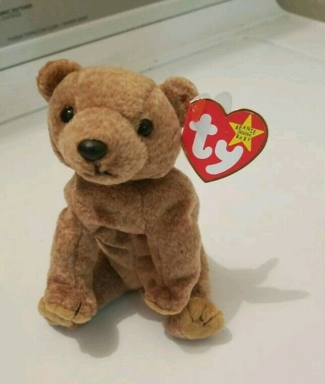 """Ty """"Pecan"""" 1st Made Before Mass Produced Retired Beanie Babies (4 ERRORS)"""