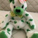 "Ty. ""Clover"" Retired Beanie Babies Irish Clover Bear March 17, 2001"