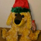 "Ty ""Jinglepup"" Christmas Pup Retired Beanie Babies December 3, 2000 Mint"
