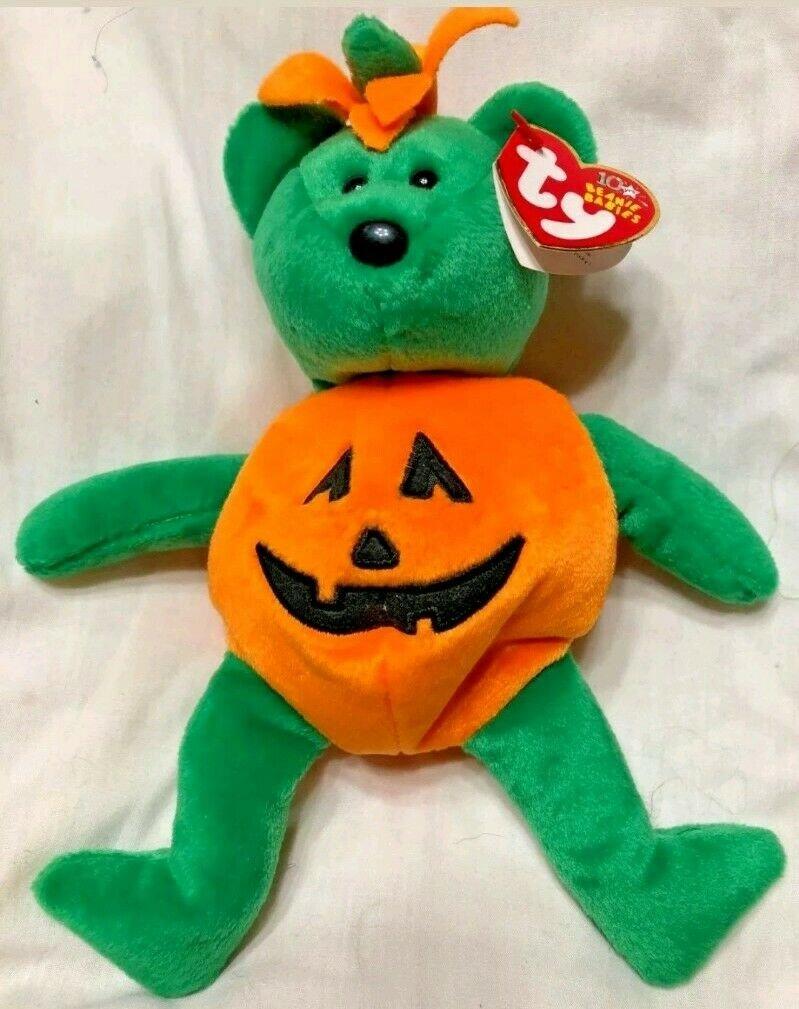 Ty Tricky Retired Beanie Babies Halloween Bear November 25, 2002