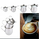 4pc Stainless Steel Cups for Milk Foamer, Coffee, Espresso. 2oz, 3oz, 5oz, 8oz