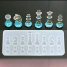 "2) Silicone Resin, Epoxy Chess Pieces Mold 6.8"" X 6.81"" X0.59"" ea"