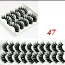 10 Pair #47 False Mink Eyelashes
