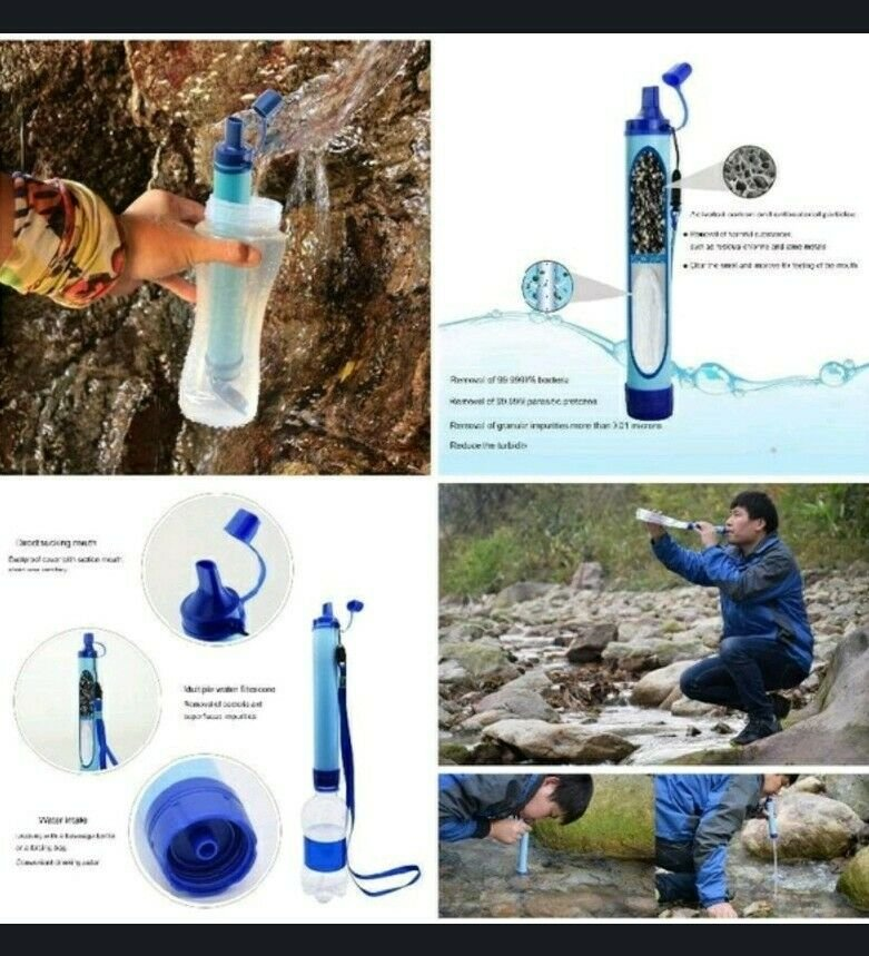 Portable Outdoor Survival Water Purifier Camping, Hiking, Survival