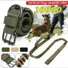 "Medium Camo-Green 1000D K-9 Military Tactical Dog Collar 14""-17""& Leash 36""-53"""