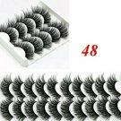 10 Pair #48 False Mink Eyelashes