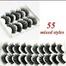 10 Pair #55 False Mink Eyelashes