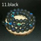 """10mm Black Dull Frosted Crystal Round Beads  36/15"""" Strand"""