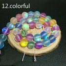 """6mm Multi-Color Dull Frosted Round Crystal Beads 60/15"""" Strand"""
