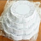 """100ct) 7 1/2""""  Dinner Plate Size White Paper Doilies"""