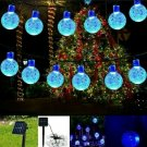 Blue 19.7ft/30 LED Water Proof Solar Globe Lights