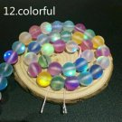 "10mm Multi-Color Dull Frosted Round Crystal Beads 36/15"" Strand"
