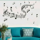 """Music Notes Reusable Wall Stickers 39 1/2"""" X 23 1/2"""""""