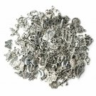 100 Mix Lot Tibetan Silver Charms