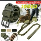 "X-Large Camo-Green 1000D K-9 Military Tactical Collar 21""-24""& Leash 21""-24"""