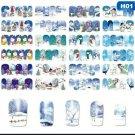1 set 12 Designs Christmas Nail Art PVC Full Nail Transfers