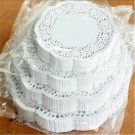 "100ct) Coaster Size 4 1/2""  White Lace Paper Doilies"