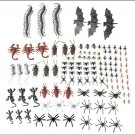 150pcs Assorted Plastic Insects &  Bugs
