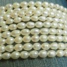 "White Freshwater Pearl Beads  15"" strand (40-48 Beads)"