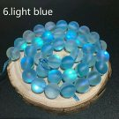 "10mm Light Blue Dull Frosted Round Crystal Beads. 36/ 15"" Strand"