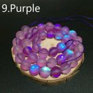 """8mm Purple Dull Frosted Round Crystal Beads. 46/15"""" Stramd"""