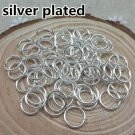 200ct. 8mm Silver Plated Open Jump Rings