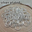 200ct. 9mm Silver Plated Open Jump Rings