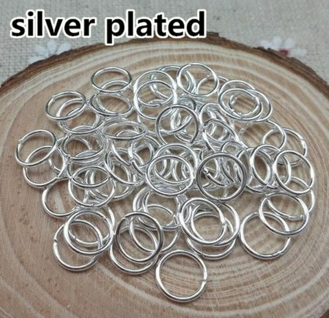 300ct. 6mm Silver Plated Open Jump Rings