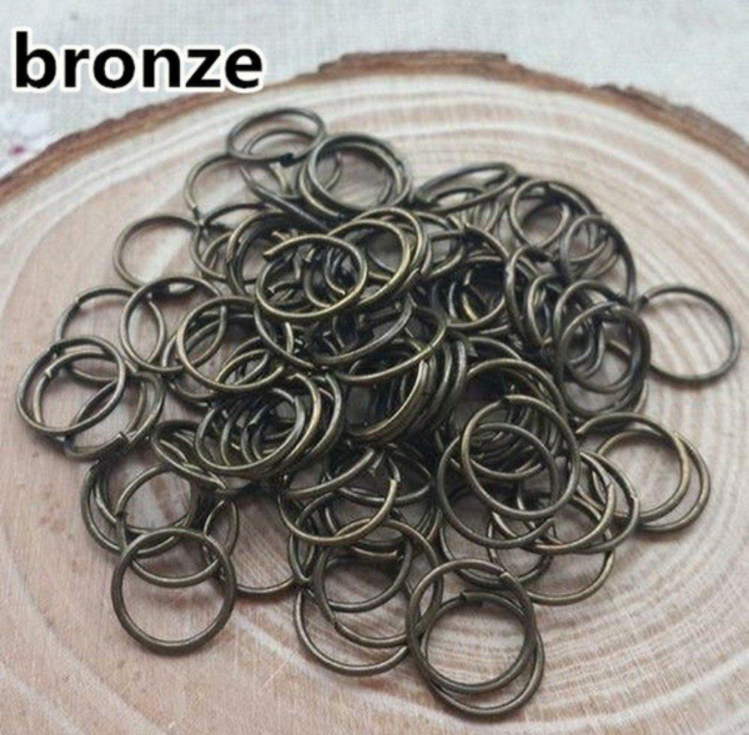 250ct. 7mm Bronze Plated Open Jump Rings