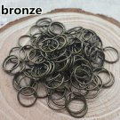 200ct. 9mm Bronze Plated Open Jump Rings