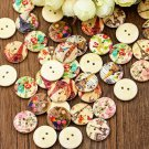 50ct. Multi-Color Eiffel Tower Floral 2 Hole Buttons 3/4""