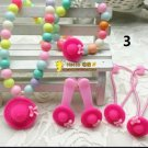 Pink Hat Jewelry Set with Hair Assessaries