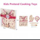 6pc Child's Kitchen Play Set Apron, Oven Mit, Hot Pad, Rolling Pin, Spoon, Wisk