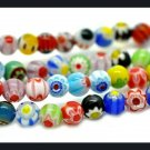 100ct 6mm Mellifiori Round Glass Beads