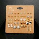 20 Multi-Color Stud Earrings