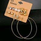 6pc Set Stud Earrings Set