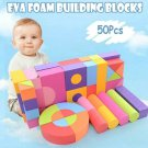 50pcs Foam Non-Toxic Building Blocks 3+
