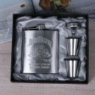 Jim Bean Portable Stainless Steel  Flask 7oz  Makes For A Great Gift