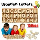 Wooden Alphabet Letter Set 156 Pcs 6 Pcs Each