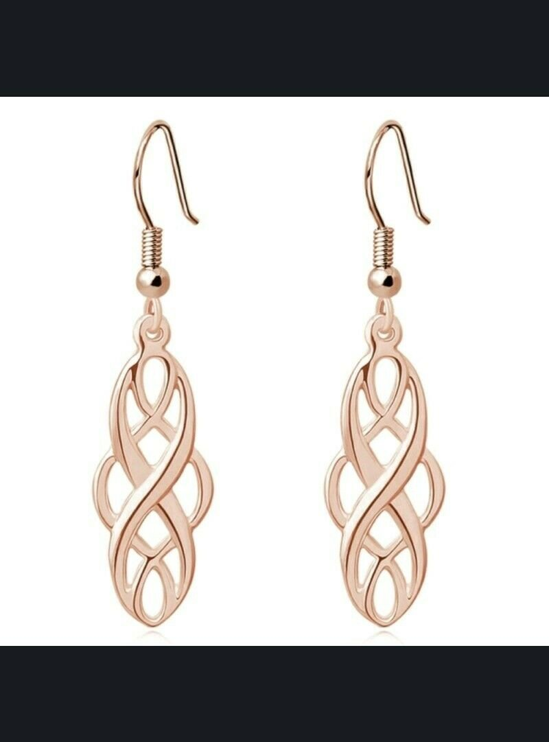 Celtic Cross Dangle Earrings. Gold Plated or Silver Plated