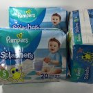 Lot of 3 Pampers Splashers Size Small S 13-24 lb 20 Count Disposable Swim Pants