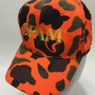 Spam Truckers Hat Snap Back Cap orange green black Otto one size fits most